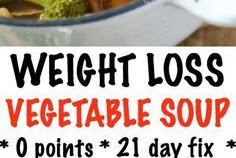 WEIGHT LOSS VEGETABLE SOUP RECIPE