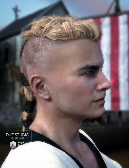 Viking Hair for Genesis 3 Male