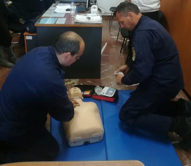 Παρουσίαση πρώτων βοηθειών από την ΕΟΔ Αργολίδας στο προσωπικό του Λιμεναρχείου Πορτοχελίου