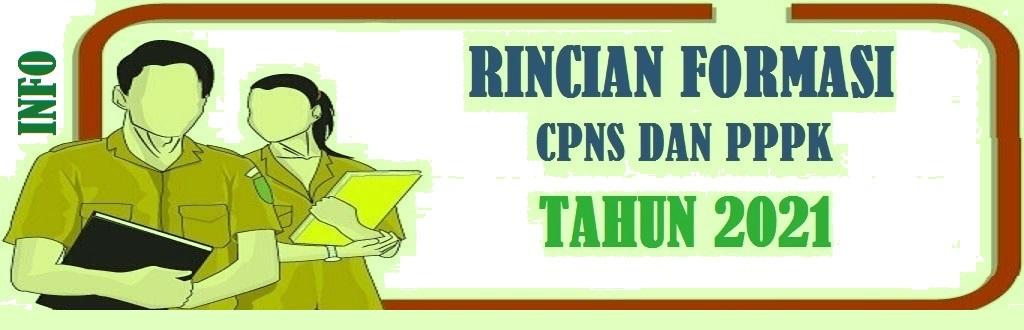 Rincian Formasi CPNS dan PPPK Pemerintah Kabupaten Pacitan Provinsi Jawa Timur Tahun 2021