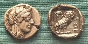 Monedas atenienses