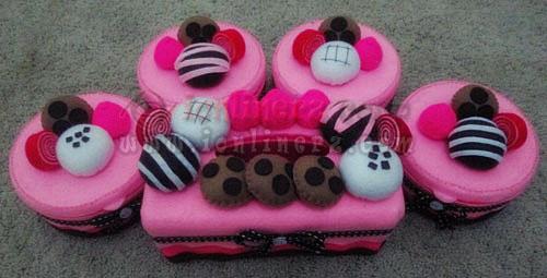 Jual Kotak / Sarung / Tempat Tisu, Toples Kue Flanel Set Karakter Kartun Sweet Ball Coco
