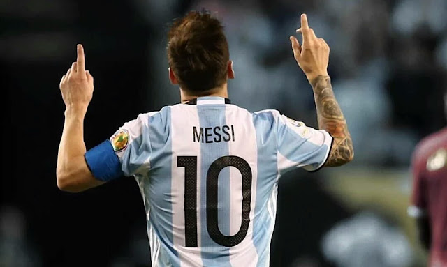 Lionel Messi breaks Batistuta goal record - Argentina 4-1 Venezuela