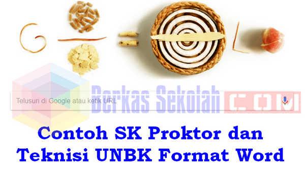 Contoh SK Proktor dan Teknisi UNBK Format Word
