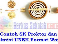 Contoh SK Proktor dan Teknisi UNBK 2019 Format Word