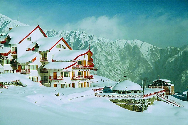 Auli is an important ski destination in the Himalayan mountains of Uttarakhand, India.