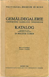 Provinzial-Museum in Bonn. Gemäldegalerie. Vorwiegend Sammlung Wesendonk. Katalog 1914