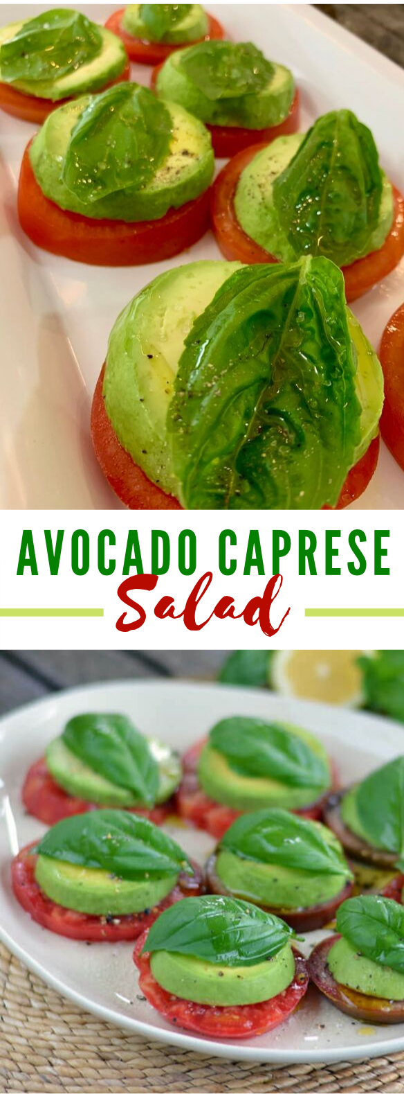 EASY AVOCADO CAPRESE SALAD (DAIRY FREE) #lowcarb #whole30