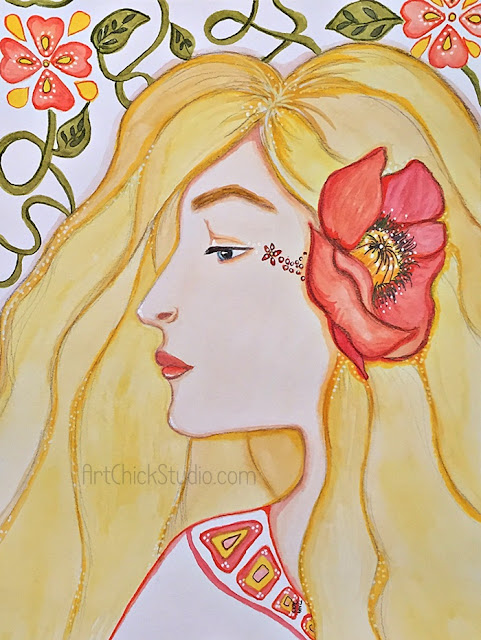 Ma Beaute Mixed Media Girl - Art Chick Studio