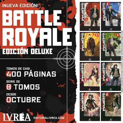 IVREA reeditará BATTLE ROYALE en tomos dobles.