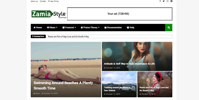 Zamia Style Responsive Blogger Templates | Seo Booster Blogger Themes