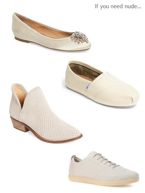 four pairs of light beige shoes