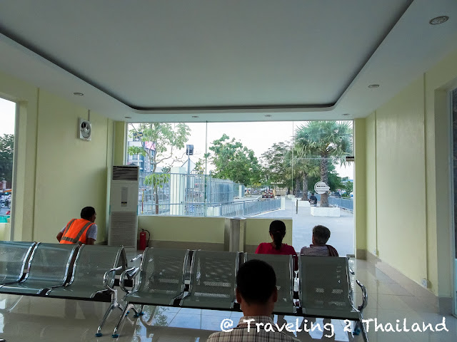 Train station at Phnom Penh Airport in Cambodia