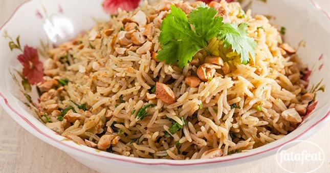 الأرز بالكزبرة والليمون الأخضر