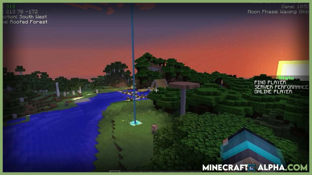 Minecraft Indicatia Mod 1.17.1 (Simple In-game Info and Utility)