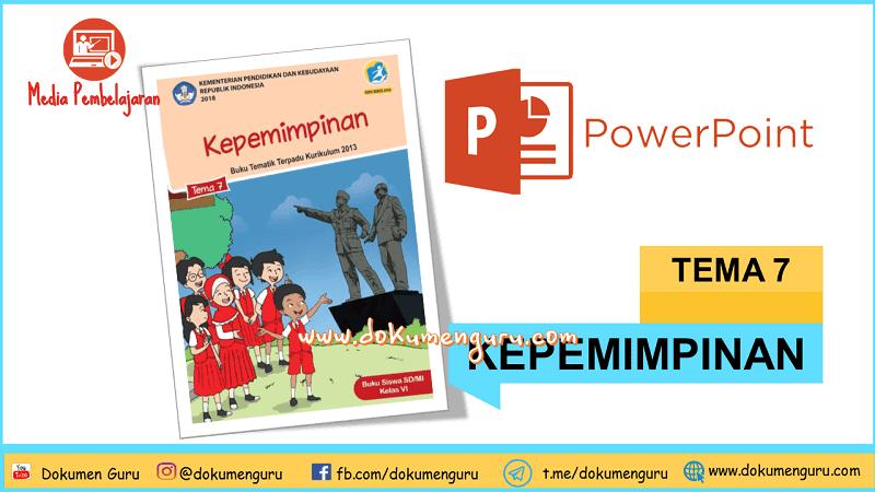 [Download] Media Pembelajaran PowerPoint Kelas 6 SD Tema 7 Kepemimpinan
