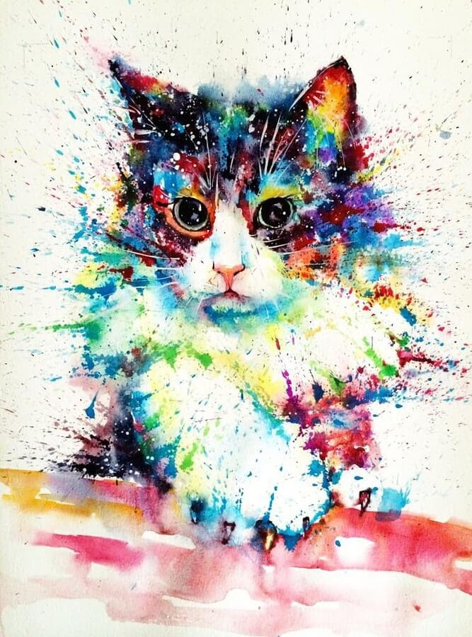 05-Cat-Watercolor-Paintings-liviing-www-designstack-co