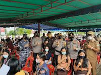 Kapolda Sumatera utara Tinjau Vaksinasi Massal di Nias Selatan