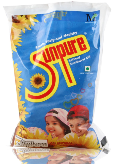 Sunpure Refined Oil -Sunflower, 1L