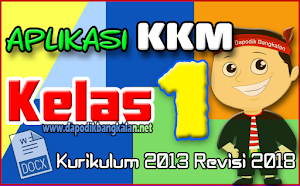Aplikasi KKM Kelas 1 Semester 2 Kurikulum 2013 Revisi 2018 Format Excell