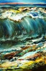 Original oil painting on canvas Big wave