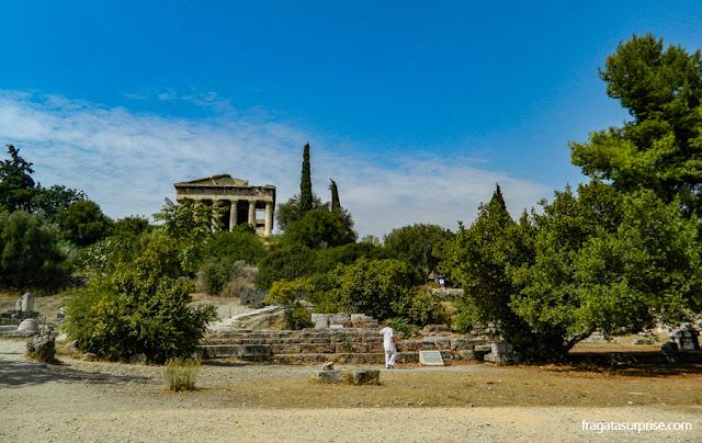 Templo de Héfesto ou Theseion na Ágora Antiga de Atenas
