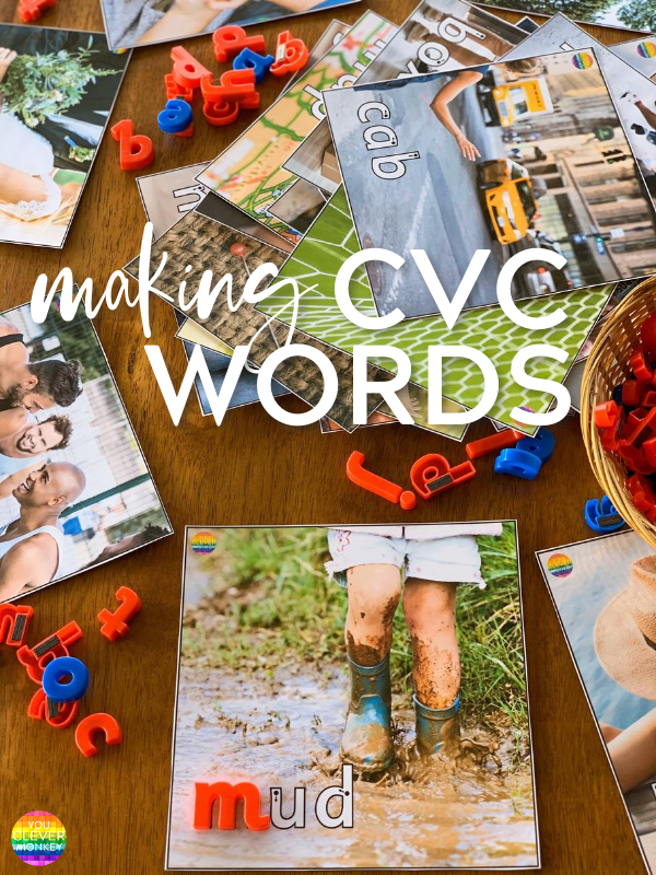MAKING CVC WORDS - A roadmap for when to teach CVC words to help build phonological awareness skills in early childhood | you clever monkey