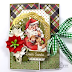Gate Fold Christmas Greeting Card with Rejoice