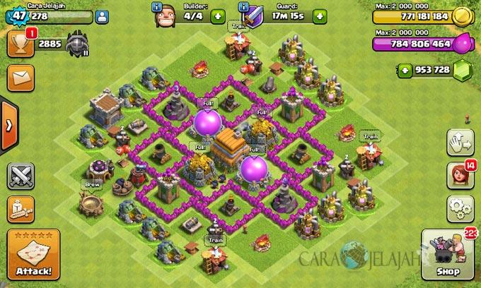 pertahanan terbaik untuk base war th 6 di clash of clans 10