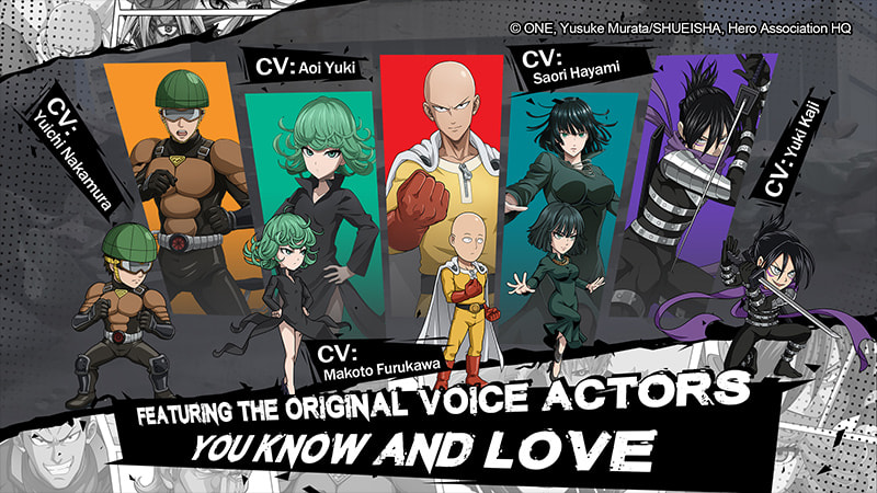 One Punch Man: Road to Hero - voice actors
