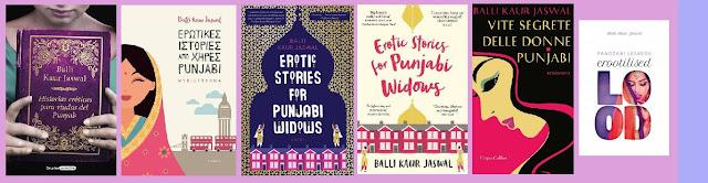 portadas del libro Historias eróticas para viudas del Punyab, de Balli Kaur Jaswal