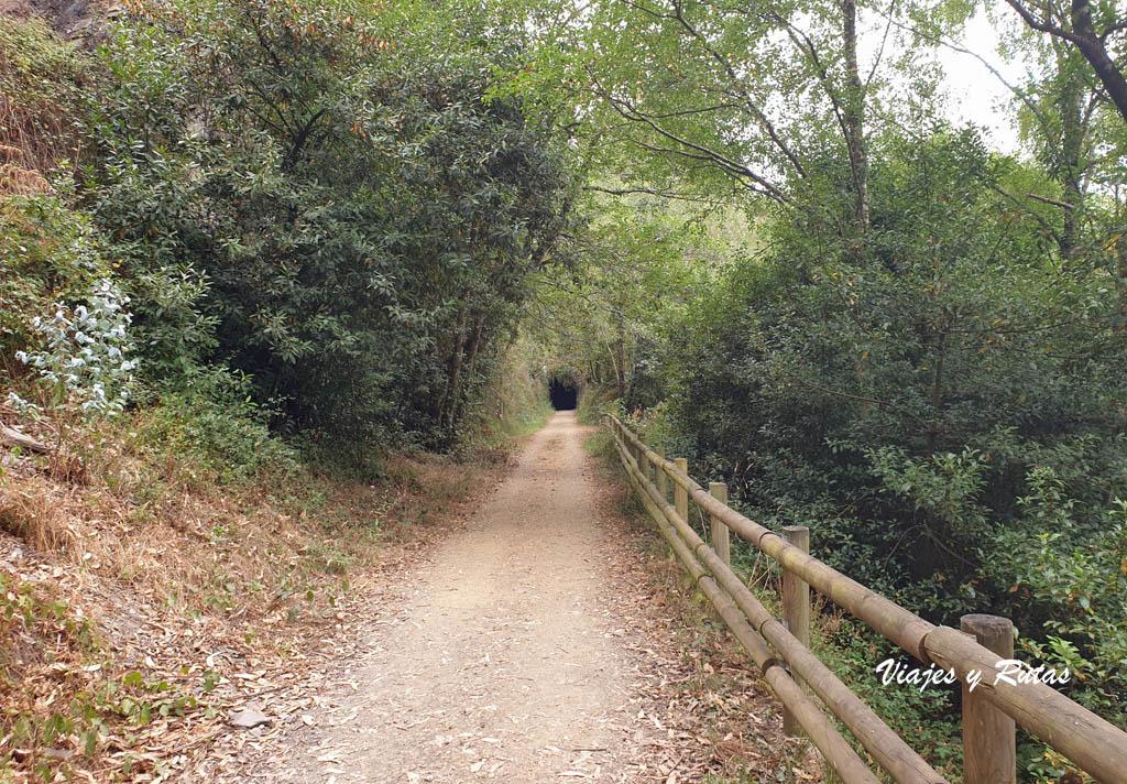 Túnel de San Tirso, Vía verde del ferrocarril del Eo