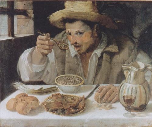 Annibale Carracci, Il mangiatore di fagioli Roma, Galleria Colonna