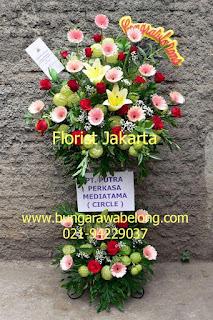 Pesan bunga standing flower congratulations untuk peresmian kantor baru di Kuningan, Jakarta Selatan