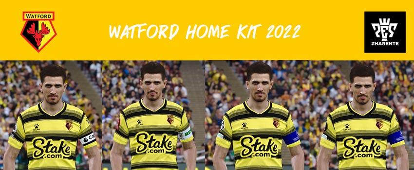 Watford Home Kit 2021-2022 For eFootball PES 2021