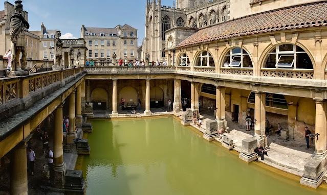 The stunning Roman Baths
