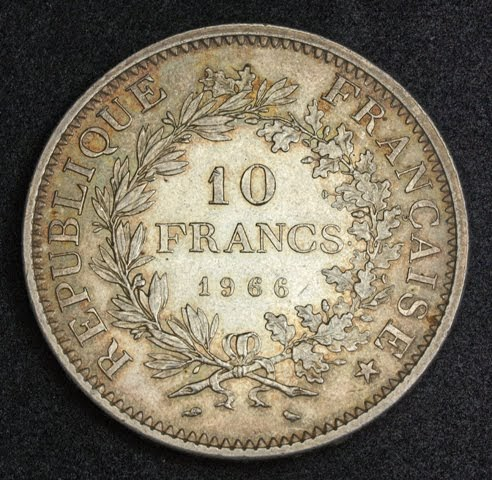 France 10 Francs Silver Coin Minted In 1966 Coins And