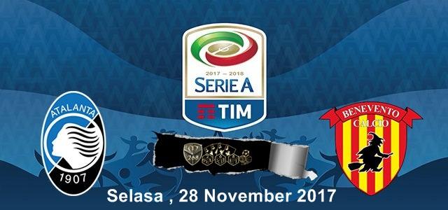 Prediksi Bola : Atalanta Vs Benevento , Selasa 28 November 2017 Pukul 02.45 WIB