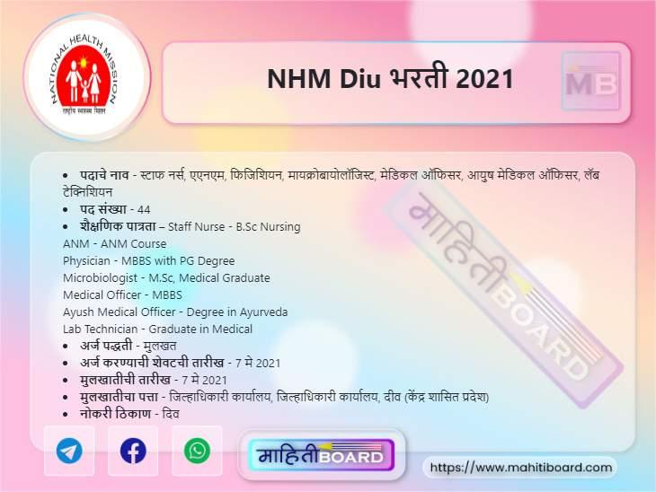 NHM Diu Recruitment 2021