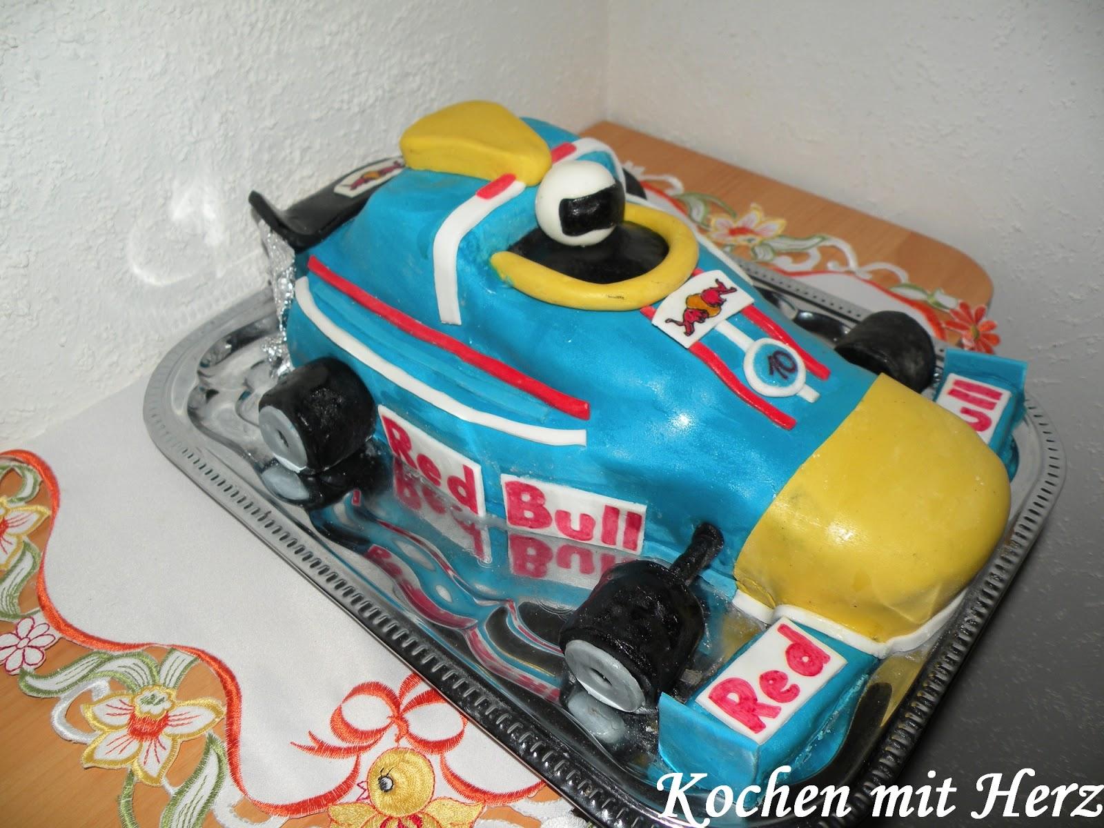 Kochen Mit Herz Formel 1 Torte Red Bull