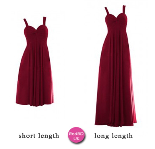 burgundy bridesmaid dresses in short or long length for fall wedding