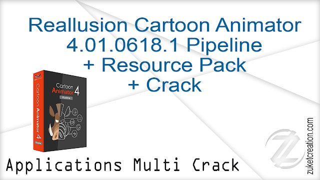 Reallusion Cartoon Animator 4.01.0618.1 Pipeline + Resource Pack + Crack     |  947 MB