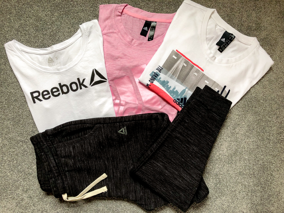 Selection of Reebok Adidas Tops and Pants