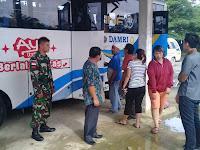 Prajurit Kodim 0910/Malinau Masih Jaga Arus Balik di Terminal Bus