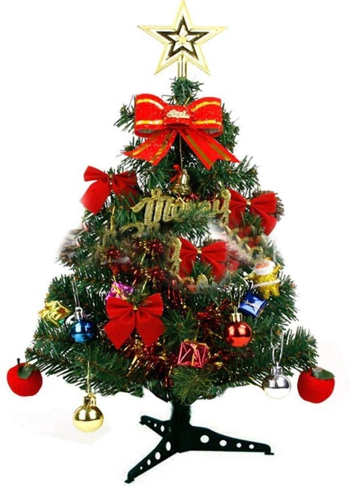 2 feet Christmas decorative tree with lights