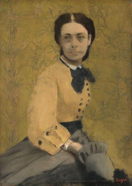 Эдгар Дега - Портрет княгини Паулины де Меттерних (ок.1965)