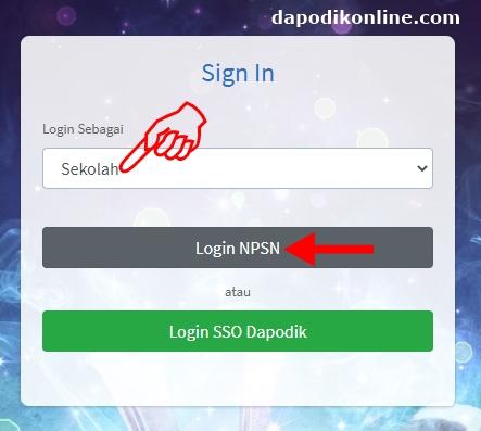 Cara Login PIP Sipintar Menggunakan NPSN dan Kode Registrasi Dapodik