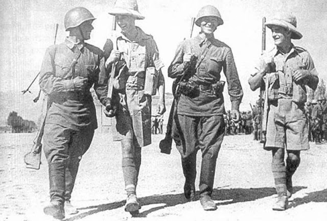 Soviet and British troops meeting in Qazvin, 31 August 1941 worldwartwo.filminspector.com