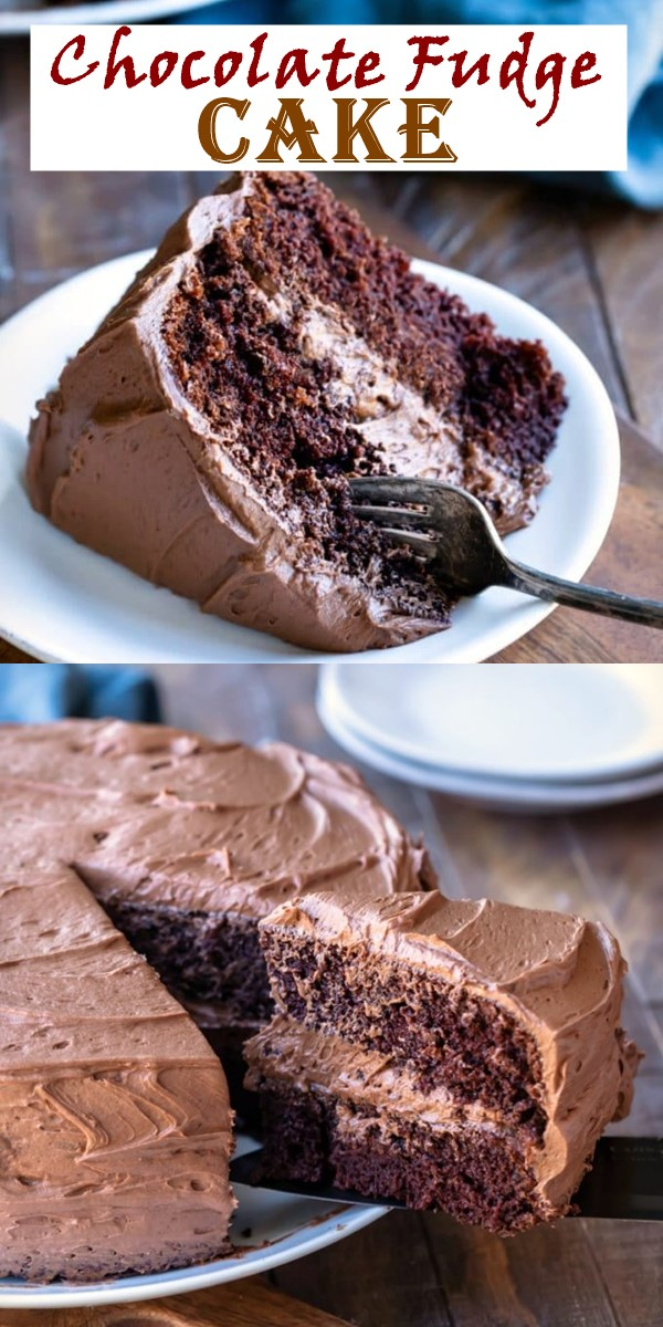 Chocolate Fudge Cake #cakerecipes