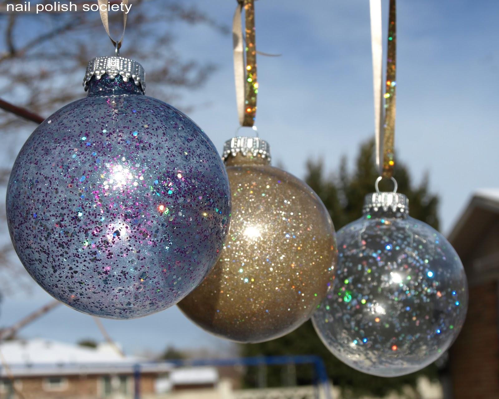 Nail Polish Society: Nail Polish Christmas Ornaments